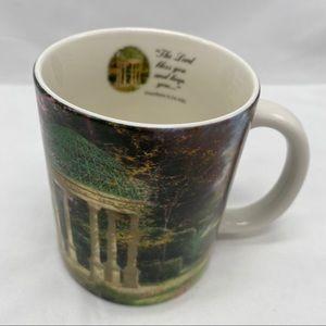 Thomas Kinkade coffee mug, AMCAL with Bible Verse